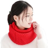 XY Fancy Women Winter Knitted Scarf Warm Wrap Collar Loop Solid Color Scarves