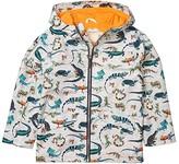 Hatley Rambunctious Reptiles Rain Jacket (Toddler/Little Kids/Big Kids) (Grey) Boy's Clothing