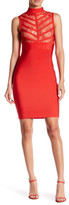 Wow Couture Sheer Lace Bandage Bodycon Dress
