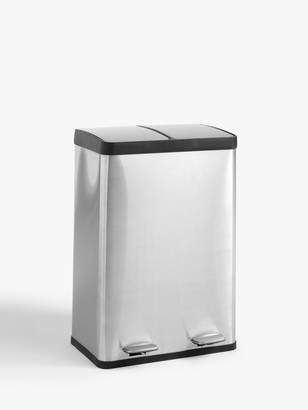 John Lewis & Partners 2 Section Recycling Bin, 60L