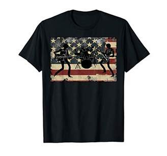 Retro American Flag Tee Shirt|Rock Roll Band Independence T-Shirt