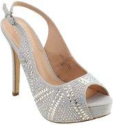 DE BLOSSOM COLLECTION FI69 Women's Stiletto Heel Platform Sling Back Prom Sandal, Color:, Size:7.5