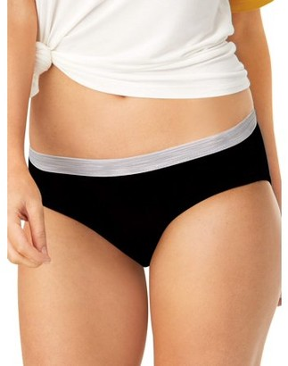 Hanes Women's SUPER VALUE Cool Comfort Sporty Cotton Hipster Underwear, 6+3 Bonus Pack