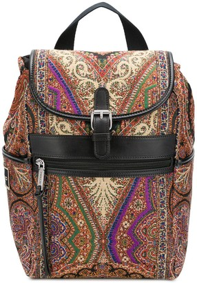 Etro Paisley-Print Small Backpack