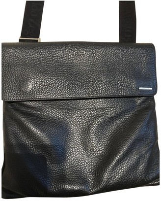 Ermenegildo Zegna Black Leather Bags