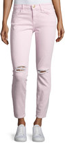 Current/Elliott The Stiletto Distressed Skinny Jeans, Forever Pink