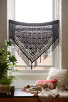 Urban Outfitters Burnout Velvet Fringe Window Valance