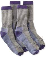 L.L. Bean Women's Cresta Hiking Socks, Midweight Two-Pack