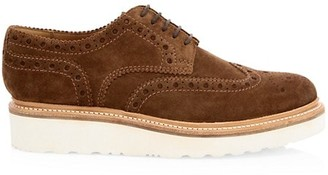 Grenson G2 Archie Suede Wingtip Wedge Shoes