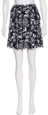 Creatures of the Wind Fringe-Accented Floral Print Skirt