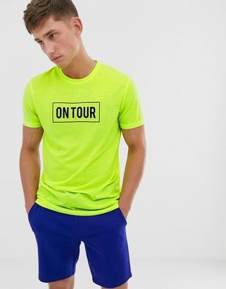Brave Soul slogan neon t-shirt