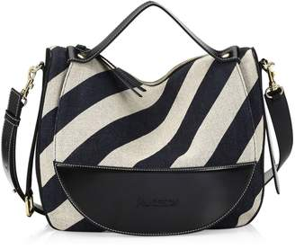 J.W.Anderson Moon Linen Stripe Shoulder Bag