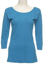 Le Mieux Turquiose Three-Quarter Sleeve Top