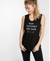 Express EXP core rum run crew neck muscle tank