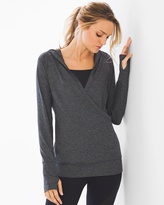Soma Intimates Hooded Pull Over Charcoal Heather