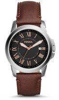 Fossil Grant Chronograph Brown Leather Watch