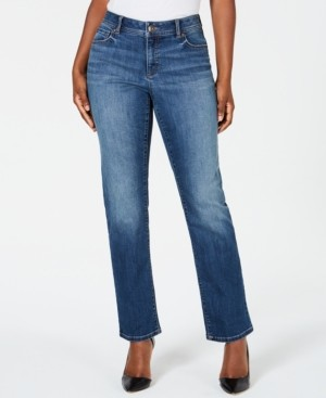 INC International Concepts Inc Curvy-Fit Straight-Leg Jeans with Tummy Control, Created for Macy's
