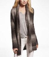 Express Ombre Metallic Sweater Coat