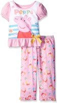 Peppa Pig Nickelodeon Pretty Flowers Toddler Pajamas for girls