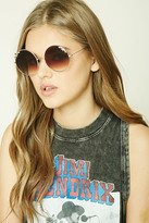 Forever 21 Star Round Sunglasses
