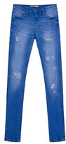 Tractr Girl's Deconstructed Skinny Jeans