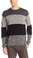 DKNY Men's Long Sleeve Bold Stripe Solid/ Marl Crew Neck Sweater