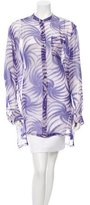 Dries Van Noten Silk Abstract Print Top w/ Tags