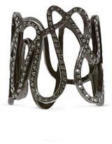 Repossi 'White Noise' diamond 18k black gold ring