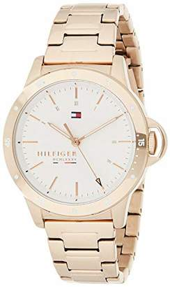 Tommy Hilfiger Women's Stainless Steel Quartz Watch with Carnation Gold Strap