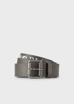 Emporio Armani Leather Belt With Print