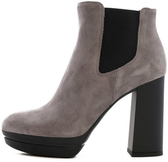 Hogan Ankle Boot Gray Suede