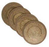 Kim Seybert Set of Four Round Beaded Placemats