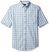 Wolverine Men's Mortar Plaid Poplin Blend Short Sleeve Shirt