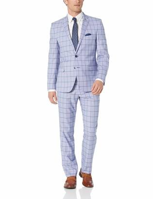 Nick Graham Mens Slim Fit Stretch Finished Bottom Suit