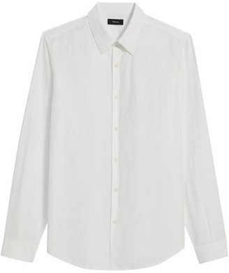 Theory Linen Regular-Fit Dress Shirt