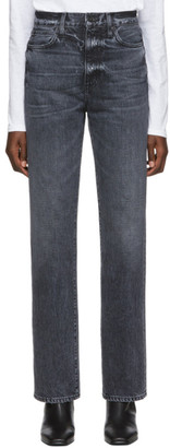 SLVRLAKE Black London High-Rise Straight-Leg Jeans