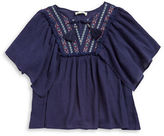 Jessica Simpson Girls 7-16? Crinkled Embroidered Top