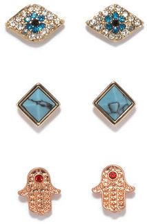 Rachel Roy Pyramid Earring Set