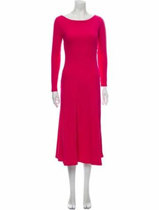 Farm Rio Bateau Neckline Midi Length Dress w/ Tags Pink