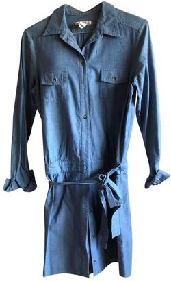 Bonpoint Blue Cotton Dress for Women