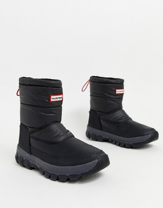Hunter padded snow boots in black