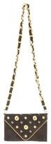Chain Stud Suede Shoulder Bag