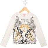Roberto Cavalli Girls' Jewel-Embellished Printed Top w/ Tags