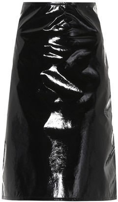 Helmut Lang Faux leather skirt