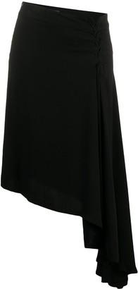 Ann Demeulemeester Lace-Up Asymmetric Skirt