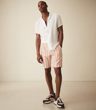 Reiss Billy - Striped Casual Shorts in Pink