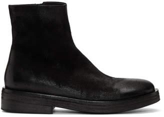 Marsèll Black Suede Listone Boots