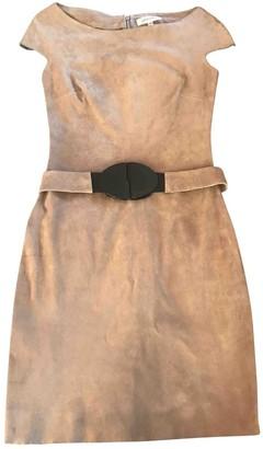 Jitrois Khaki Suede Dresses