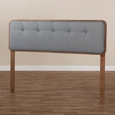 Higgs Upholstered Panel Headboard George Oliver Size: Full, Color: Dark Gray