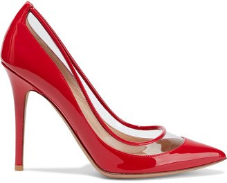 Valentino Pvc-trimmed Patent-leather Pumps